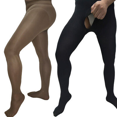 $11.99 • Buy 200D Men Velvet Opaque Pantyhose Winter Warm Thick Stockings Socks Footed Tights
