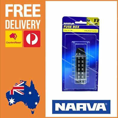 AU22.42 • Buy Narva ATS Blade Fuse Box 6-Way Narva Fuse Block Power Distribution Block 54422BL