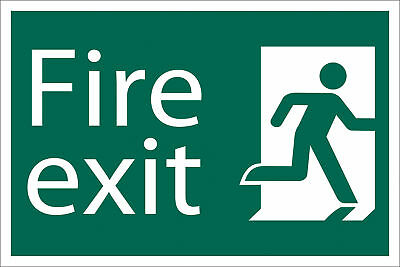 Draper Fire Exit Escape Route Right Self Adhesive Safety Sign Notice 72449 • 11.40£
