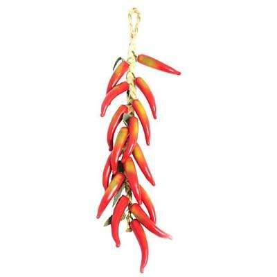 Artificial Fruit Bunch Hanging Chilli Peppers 500mm Realistic Fruits Display • 12.99£
