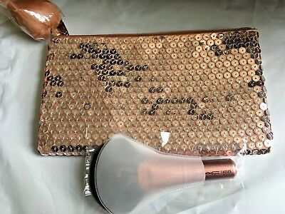 $26 • Buy MAC Full Fan Brush 140SES Rosegold Handle, Plastic Cover Sealed, New With Bag