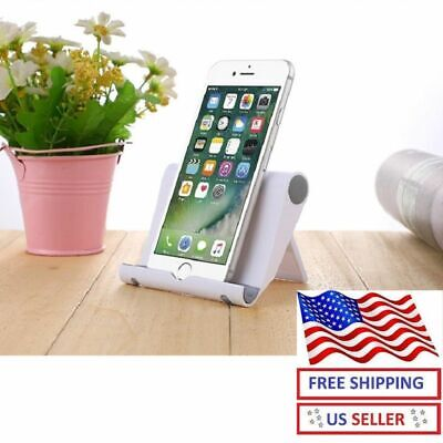 $4.97 • Buy Foldable Cell Phone Desk Stand Holder Tablet IPhone Car Universal Mount Desktop