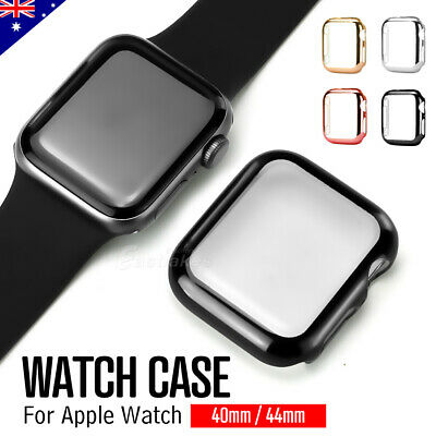 AU5.95 • Buy For Apple Watch 5 4 40&44mm Full Case Cover & Built-in Glass Screen Protector