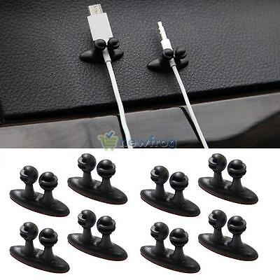 AU4.50 • Buy 8 X Car Wire Cord Clip Cable Holder Tie Fixer Organizer Drop Adhesive Clamp New
