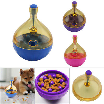 Funny Pets Dog IQ Treat Ball Interactive Food Dispensing Toy Food Feed Toy UK • 5.59£