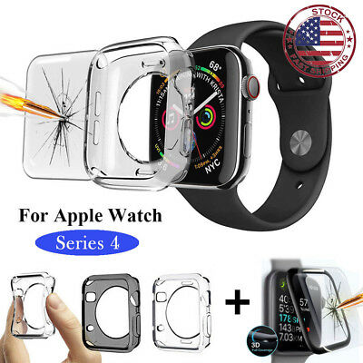 $ CDN3.12 • Buy For Apple Watch Series 4 Full Body Screen Protector Soft TPU Case Cover CA SAC