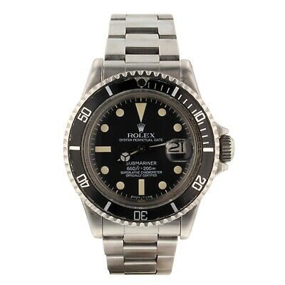 $ CDN16421.75 • Buy Rolex Submariner Vintage Steel Automatic 40 Mm Mens Watch 1680 Year 1971
