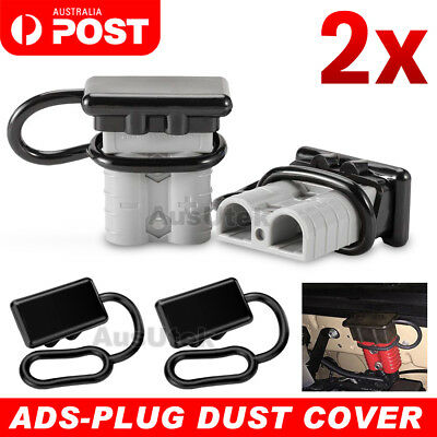 AU5.45 • Buy 2x Dust Cap For Anderson Plug Cover Style Connectors 50AMP Battery Caravn 12-24V
