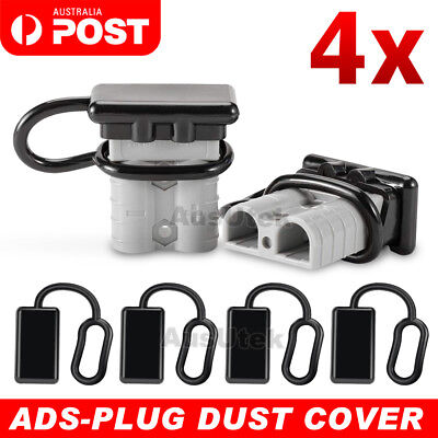 AU6.85 • Buy 4x Dust Cap For Anderson Plug Cover Style Connectors 50AMP Battery Caravn 12-24V