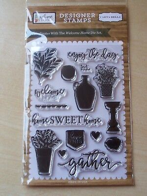 Carta Bella - Designer Stamps  -clear Stamps - Welcome Home  - 16 Stamps • 6.25£