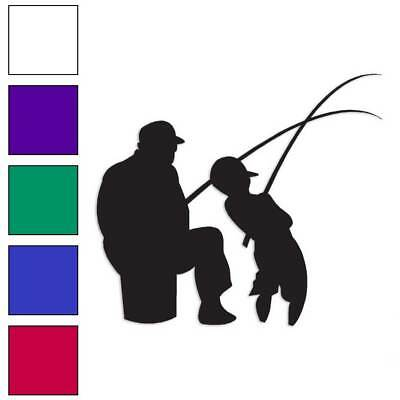 $5.57 • Buy Man Son Fishing Decal Sticker Choose Color + Size #3247