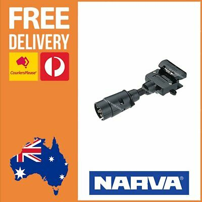 AU25.23 • Buy Narva 7 Pin Large Round Socket Car To 7 Pin Flat Plug Trailer Adaptor 82235BL