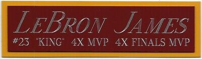 AU16.32 • Buy LEBRON JAMES CAVALIERS CAVS NAMEPLATE FOR AUTOGRAPHED Signed BASKETBALL JERSEY