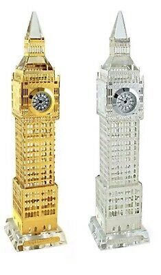 London Big Ben Souvenir Crystal Clock With Changing LED Lights.in Gold Or Sil • 12.99£
