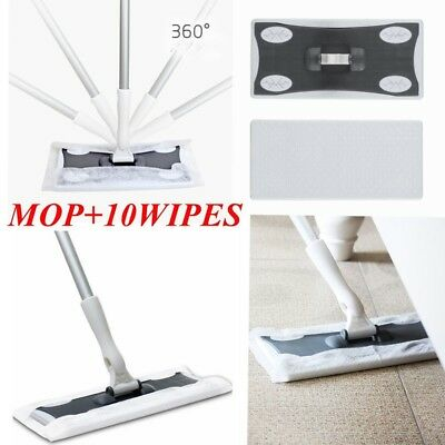 Wood Tile Laminate Floor Duster Cleaner Static Cleaning Mop And Wet Or Dry Wipes • 10.99£