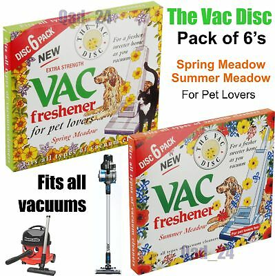 Vac Disc Hoover Vacuum Cleaner Air Freshener Discs For Pet Lovers Home Office • 3.25£