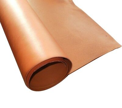 2mm Thick A Grade Saddle Tan Full Grain Veg Tan Cowhide Tooling Craft Leather  • 10.95£
