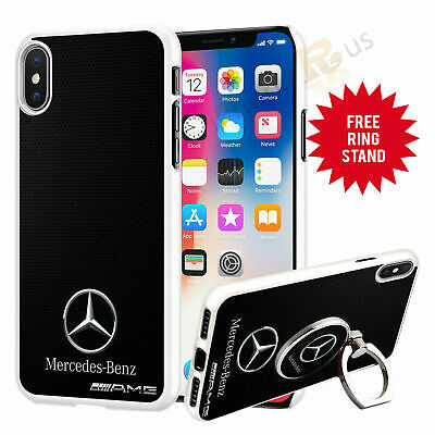 $ CDN12.33 • Buy Mercedes Car Phone Case Cover & Finger Ring Stand For Apple Samsung Huawei 041-4