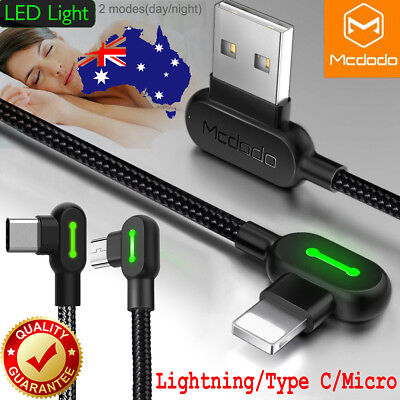 AU8.89 • Buy MCDODO Elbow Lightning Bolt USB Charging Cable For IPhone/iPad Samsung Android