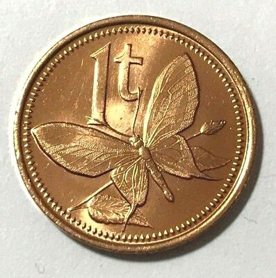 $1.35 • Buy Papua New Guinea 1 Toea, Butterfly, Insect Animal Wildlife Coin
