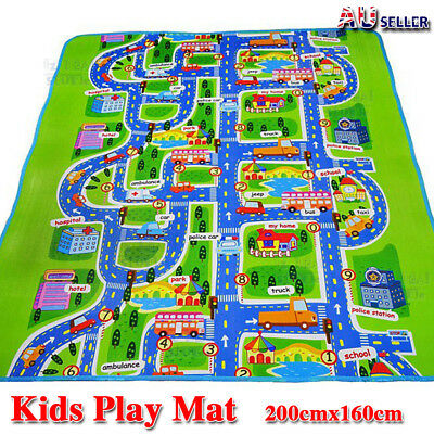 AU27.99 • Buy Kids Rug Play Mat Cushion Soft Carpet For Baby Educational Road Traffic City