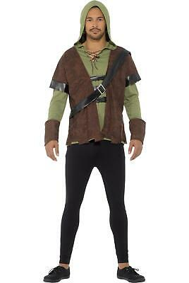 £15.99 • Buy Mens Robin Hood Costume Medieval Prince Of Thieves Adult Fancy Dress Outfit