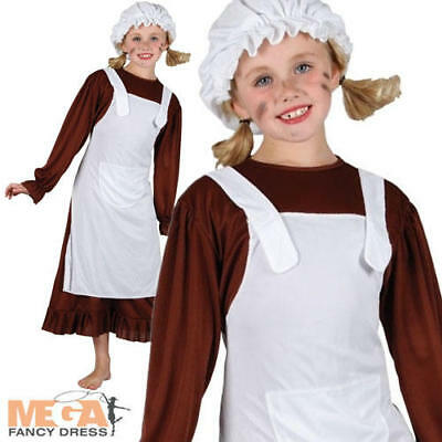 $18.05 • Buy Victorian Poor Maid Girls Fancy Dress Book Day Week Kids Childs Costume Outfit