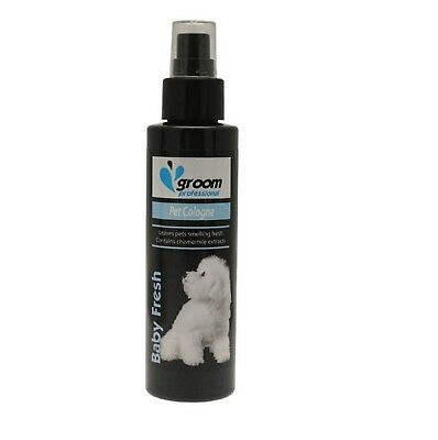 Groom Professional Cologne Puppy Dog Spray Baby Pet Powder Talc Smell – 100ml  • 11.97£