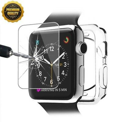 $ CDN2.98 • Buy For Apple Watch Series 4 3 40/44mm TPU Clear Bumper Case Screen Cover Protector