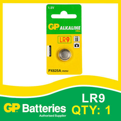 GP Alkaline Button Battery PX625A (LR9) Card Of 1 [WATCH & CALCULATOR + OTHERS] • 1.53£