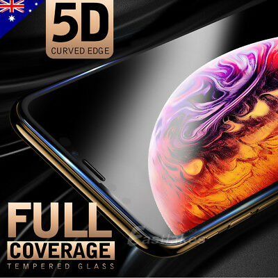 AU7.95 • Buy 5D Full Coverage Apple IPhone 11 Pro XS Max XR X Tempered Glass Screen Protector