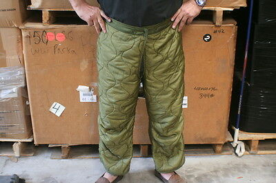 $6.99 • Buy Military Issue Cold Weather Pant Liners Od New Large Long Side Buttons Boot Cut