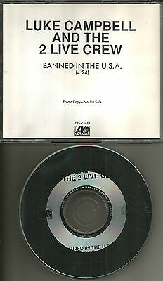 $ CDN33.51 • Buy 2 LIVE CREW & LUKE CAMPBELL Banned In The U.S.A. RARE 1 TRK PROMO DJ CD Single