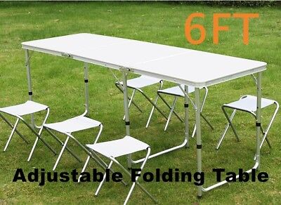 6FT Folding Camping Table Heavy Duty Portable Catering Picnic BBQ Dining Party • 30.99£
