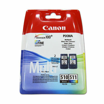 Original Canon PG510 Black & CL511 Colour Ink Cartridge For PIXMA MP250 Printer • 30.95£