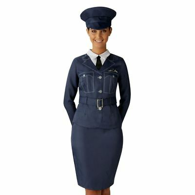 Ladies WRAF Royal Air Force Wartime Costume Military Fancy Dress Outfit • 21.98£