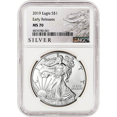 $44.85 • Buy 2019 American Silver Eagle - NGC MS70 - Early Releases - ALS Label