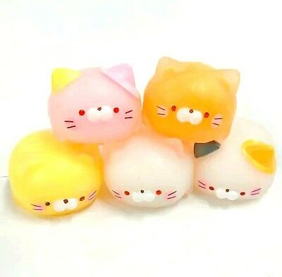 $ CDN8.87 • Buy Phone Squishy Mochi Fat Cat Pink Pastel Japanese  1 Random Slime Squeeze Toy