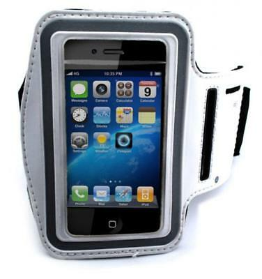 $7.98 • Buy WHITE SPORTS WORKOUT ARM-BAND RUNNING GYM STRAP CASE For CELL PHONE IPHONE IPOD