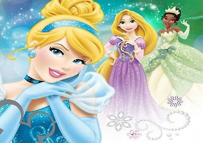 Disney Princess Art Print A4, Poster, Picture, Nursery, Bedroom Gift  • 3.60£