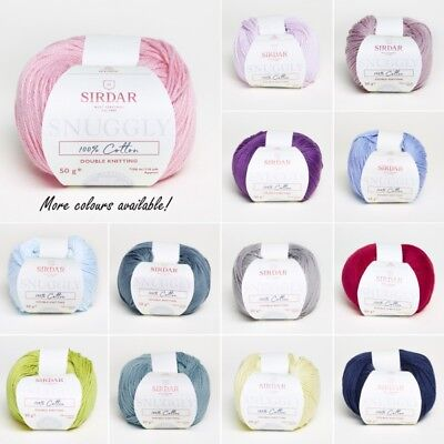 Sirdar Snuggly 100% Cotton Double Knitting Baby Knit DK Yarn Craft Wool 50g Ball • 2.45£