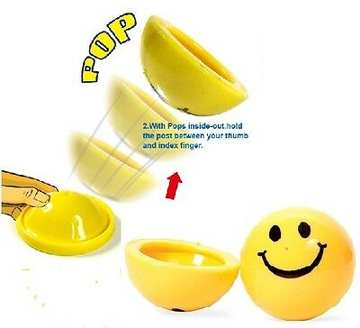 Smiling Happy Smile Face Dome Poppers Party Bag Fillers Fete Fayre Prizes Toys • 8.15£