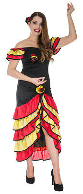 c797d09e0 Spanish Senorita Womens Fancy Dress Costume Flamenco Dancer Mexican Rumba  Salsa • 38.64$