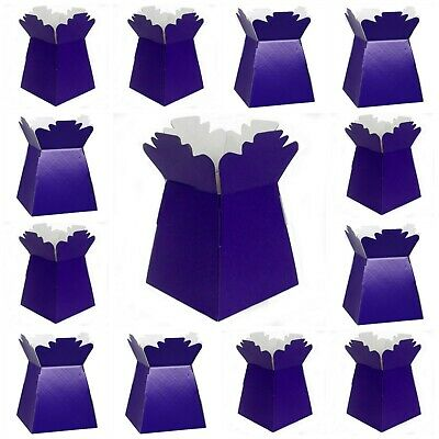 £2.99 • Buy CADBURY PURPLE Living Vases Florist Bouquet Box Flower Plant Aqua Sweet Boxes UK