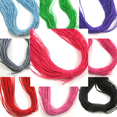 $ CDN15.45 • Buy 1.2mm Thin Round Coloured Cord  *80 Metres* Beading Milinery Elasticated