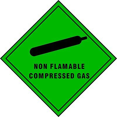 SAFETY SIGN Compressed Air/Gas Stickers - Self Adhesive Waterproof Vinyl Sticker • 1.95£
