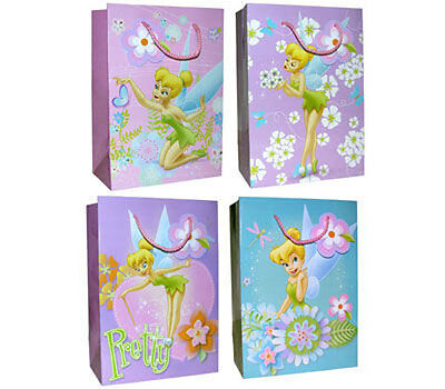 £9.76 • Buy 10 Gift Bags Disney Pixie Tinkerbell Fairy Floral Birthday Party Favor Lot NEW