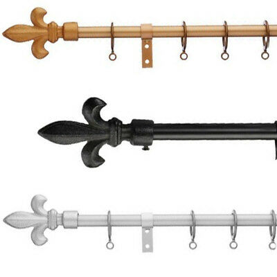 Universal Fleur De Lys 13 - 16mm Metal Extendable Curtain Pole Set • 23.95£