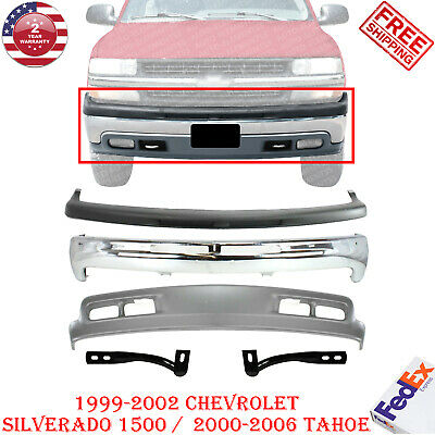 $393.56 • Buy Front Bumper Chrome Kit For 1999-2002 Chevy Silverado 1500 / Tahoe 00-06