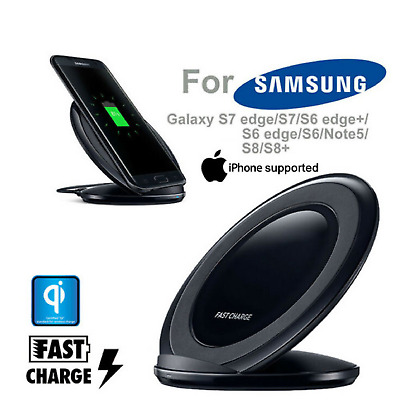 AU16.07 • Buy Wireless QI FAST Charging Charger For Genuine Samsung Galaxy S8 S9 S6 S7 Edge